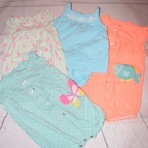 4 Carter's One Piece Outfits